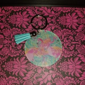 New in pkg Lilly print keychains